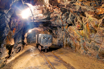 Railroad mine tunnel