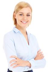 Proud businesswoman