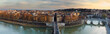 Panorama of Rome at sunset