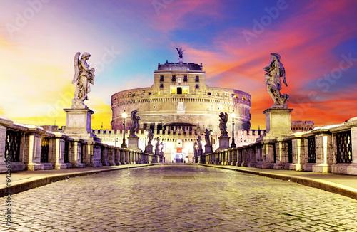 Castel Sant Angelo from  bridge, Rome. - 64256980
