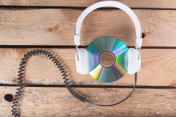 cd and headphones