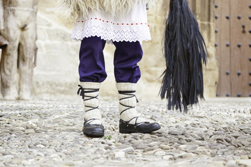 Detail of a typical Basque outfit