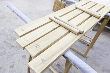 Handmade wooden xylophone