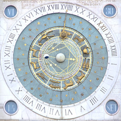 Zodiak clock in Padua, Italy