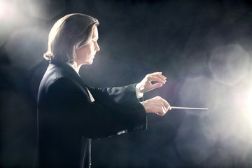 Orchestra conductor inspired maestro