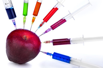 Genetic modification of fruit with a syringe full of chemicals
