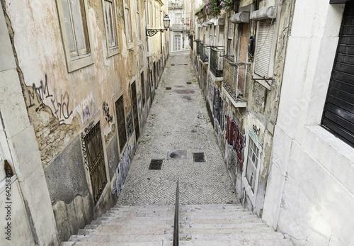 Old alley Lisbon - 64258394