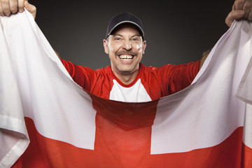 Fussball Fan England Polen