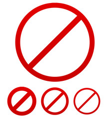 Prohibition, no permission sign