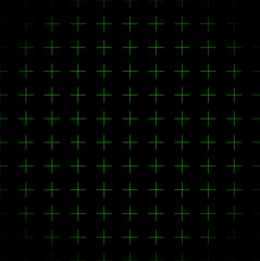 Green grid, crosses background (repeatable)