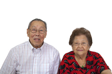 Elderly Asian Couple Portrait