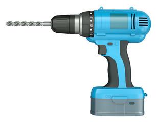 Blue cordless drill