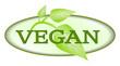 Vegan Symbol oval Blätter