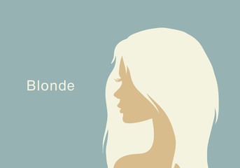 The blonde with beautiful hair