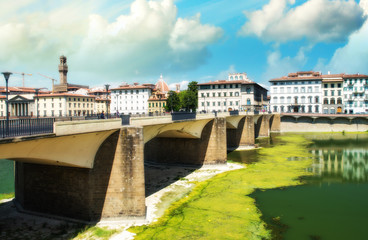 Ponte Alle Grazie, side view - Florence