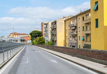 Road of Downtown Pisa, Italy
