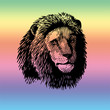 Lion arc-en-ciel
