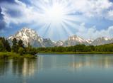 Mountain Scenario and Landscape poster