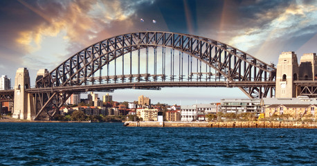 Sydney Harbour Bridge and Australian Sky