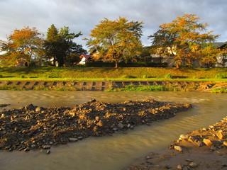 泥の多い川