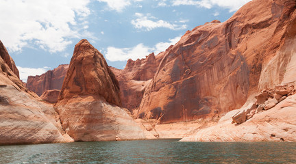 Lake Powell Rock Formations and Canyon