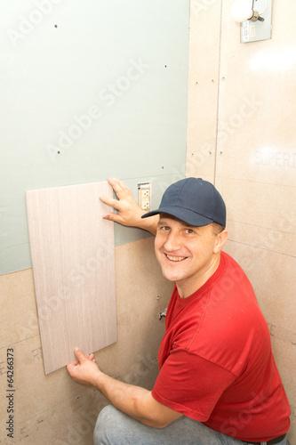 Tile installation