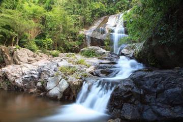 Saiku waterfall in national park at Prachuapkhirikhan province