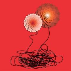 flores, relaciones de pareja, familia, sociedad