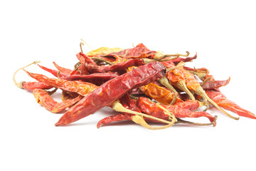 Dried red hot peppers