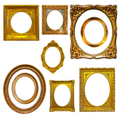 Set of oval picture  frames