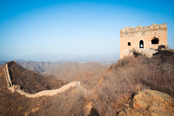 China great wall of  in winter
