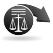 informations légales commerce électronique sur symbole noir