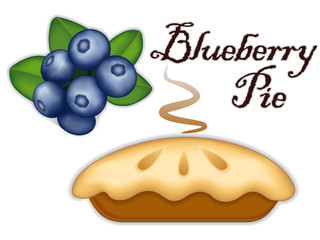 Blueberry Pie, fresh, baked sweet dessert, healthy ripe fruit.