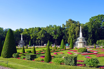 Peterhof, the Roman fountains