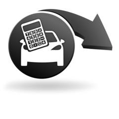 frais de transport automobile sur symbole noir