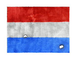 weathered flag of Luxembourg