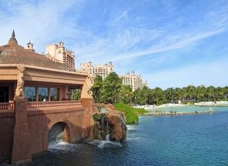 Beautiful views of the Atlantis  Hotel in Nassau, Bahamas