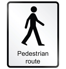 pedestrian route public information sign