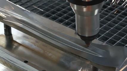metal laser cutting detail
