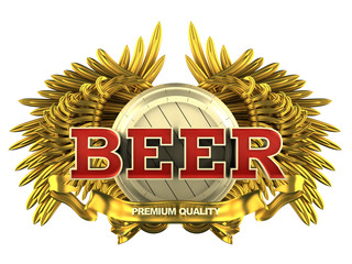 beer label with wings
