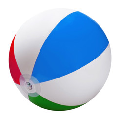 bright inflatable ball isolated