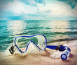snorkel and scuba mask