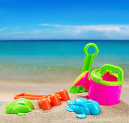colorful toys for childrens sandboxes