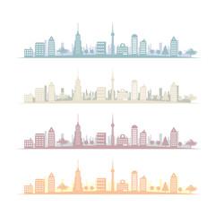 都会の風景-横長420