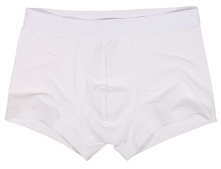 Male underwear isolated on white background.