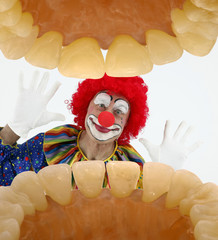 Clown durch den Mund