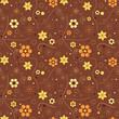 Autumn floral geometric pattern