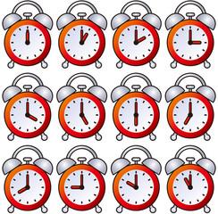 目覚まし時計 12時間 あか