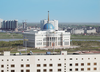 Residence of the President of Kazakhstan and a view of Astana
