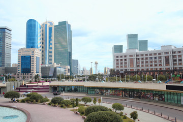 Fragment of downtown of Astana